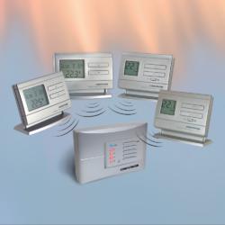 Q8RF multizonska bežična prijemna jedinica sa dva termostata u paketu
