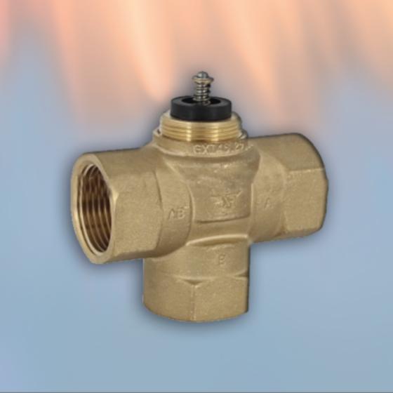 DN25-3 - trosmjerni radijatorski/zonski ventil za centralno grijanje